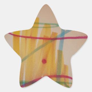 El sonido de la música pegatina en forma de estrella