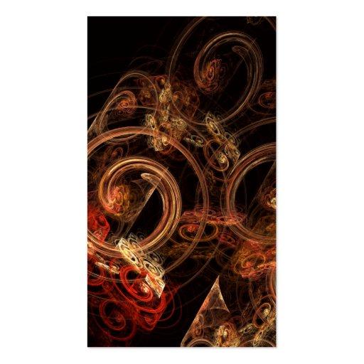El sonido de la tarjeta de visita del arte abstrac
