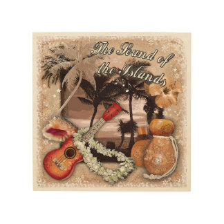 El sonido de las islas cuadro de madera