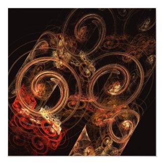 """El sonido del arte abstracto de la música invitación 5.25"""" x 5.25"""""""