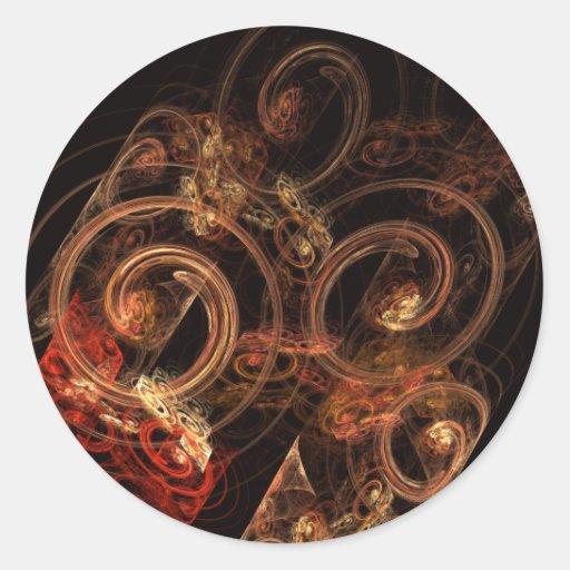 El sonido del pegatina redondo del arte abstracto