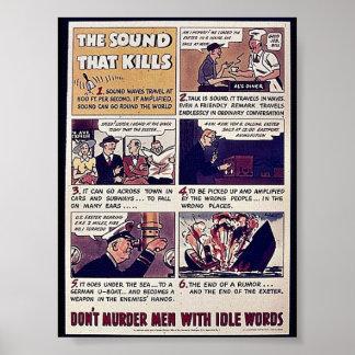 El sonido que mata, no asesina a hombres con W oci Impresiones