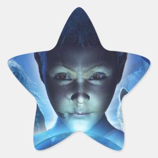 El sonido y los ecos pegatina en forma de estrella