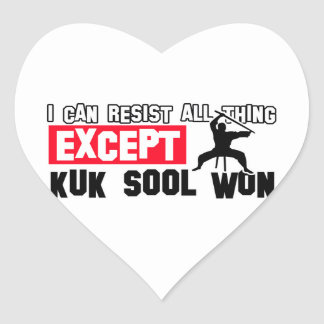 el sool del kuk ganó diseño marcial pegatina en forma de corazón