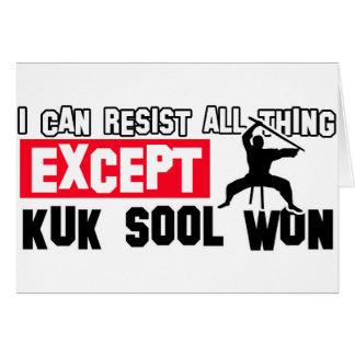 el sool del kuk ganó diseño marcial tarjeta de felicitación