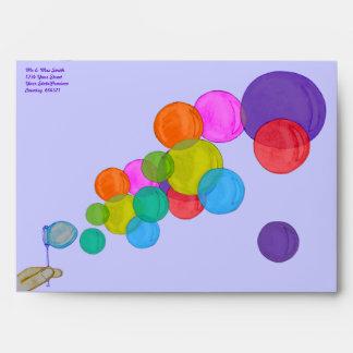 El soplar burbujea (el arco iris)