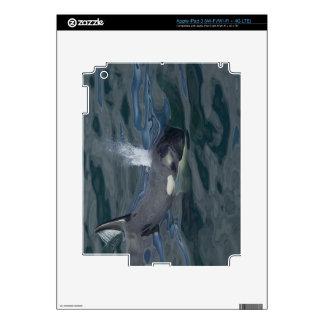 El soplar de la orca pegatina skin para iPad 3