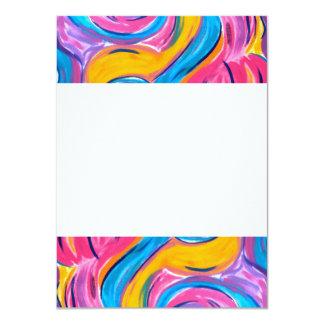 El soplar en el viento - arte abstracto invitación 11,4 x 15,8 cm