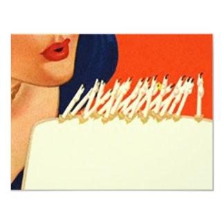El soplar hacia fuera mira al trasluz a la fiesta invitación 10,8 x 13,9 cm