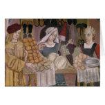El soporte de los vendedores de la fruta tarjeta de felicitación