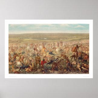 El soporte pasado de Custer (0482A) Póster