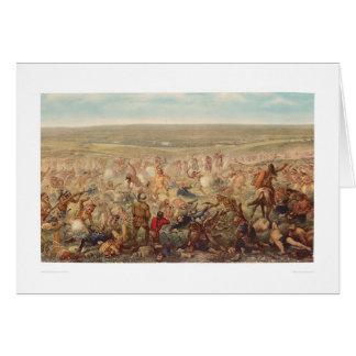 El soporte pasado de Custer (0482A) Tarjeta De Felicitación