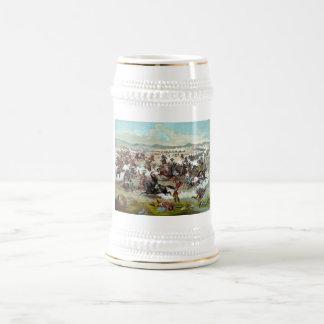 El soporte pasado de Custer Jarra De Cerveza