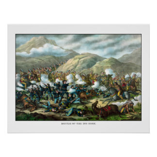 El soporte pasado de Custer Póster