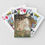 El soporte pasado del clan de Kusanoki Baraja Cartas De Poker