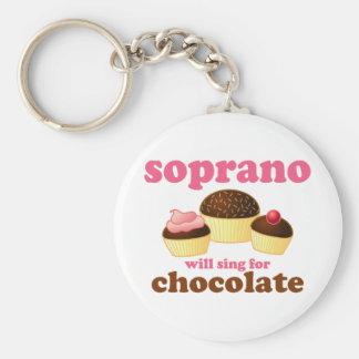 El soprano cantará para el chocolate llavero redondo tipo pin