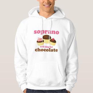 El soprano cantará para el chocolate sudadera