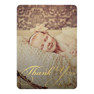 El sorbo del bebé y ve para agradecerle invitación invitación 12,7 x 17,8 cm