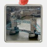 ¡El sorprender! Puente Londres de la torre Adorno Cuadrado Plateado