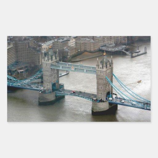¡El sorprender! Puente Londres de la torre Pegatina Rectangular