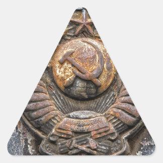El soviet graba en relieve colcomanias trianguladas personalizadas