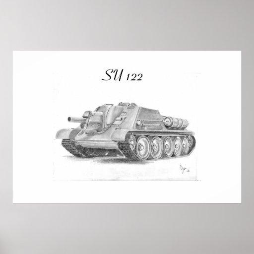 El soviet SU 122 asalta el arma Posters