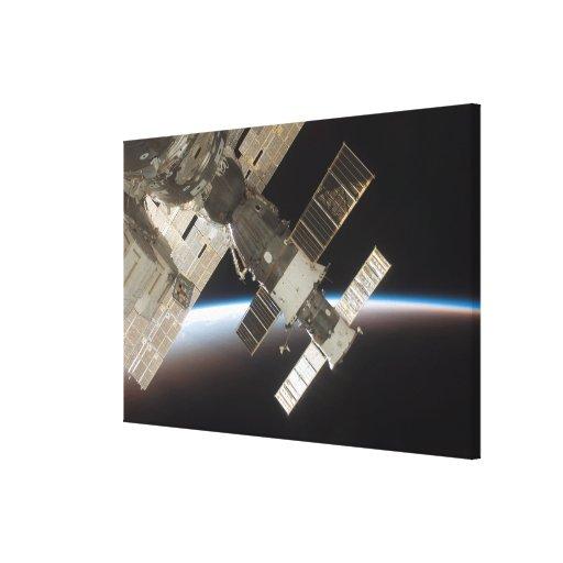 El Soyuz atracado 13 Impresión De Lienzo