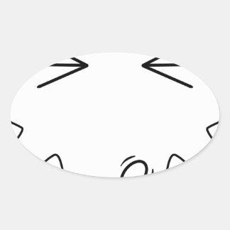 El Spanker Pegatinas Ovaladas Personalizadas