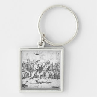 El Sparring, 1817 Llavero Cuadrado Plateado