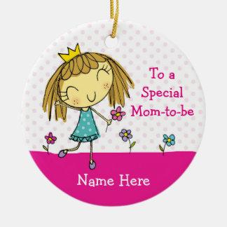 El Special COLGANTE del ORNAMENTO del ♥ mamá-a-es Adorno Navideño Redondo De Cerámica
