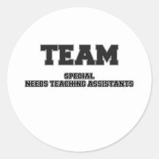 El Special del equipo necesita a profesores ayudan Etiquetas Redondas