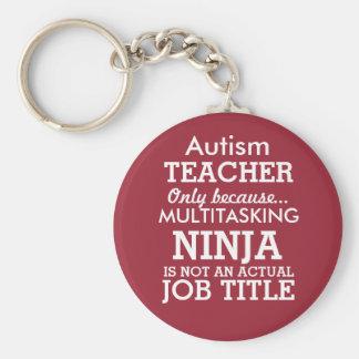 El Special divertido del autismo necesita al Llavero Redondo Tipo Pin
