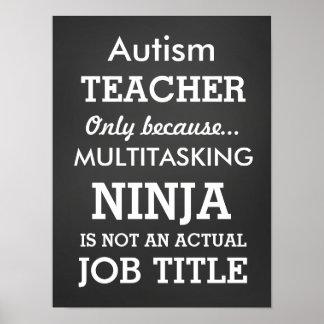 El Special divertido del autismo necesita al Poster