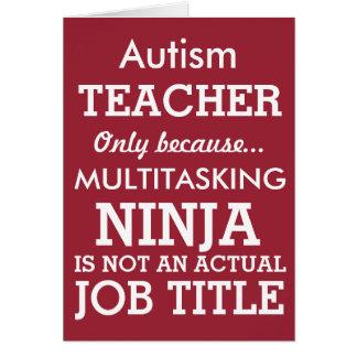 El Special divertido del autismo necesita al Tarjeta De Felicitación