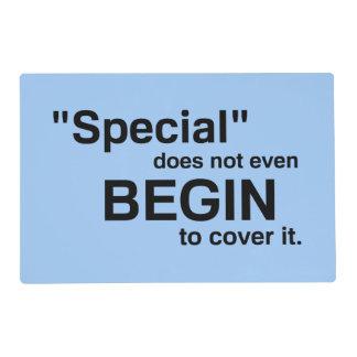 El Special incluso no comienza a cubrirlo Tapete Individual