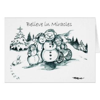 El Special necesita al muñeco de nieve ChristmasCa Felicitación