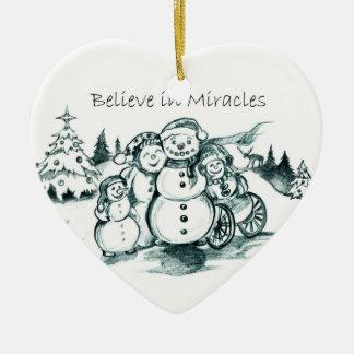 El Special necesita el ornamento del navidad de la Adorno De Cerámica En Forma De Corazón