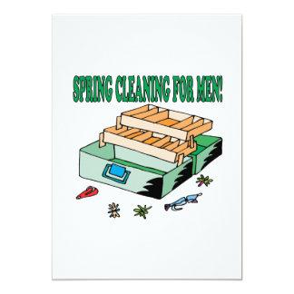 """El Spring Cleaning para los hombres Invitación 5"""" X 7"""""""