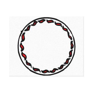 el squiggle sazona con pimienta alrededor de marco impresiones en lona estiradas