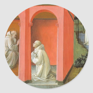 El St. Benedicto pide St. Maurus al rescate Etiquetas Redondas