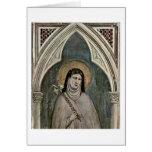 El St. Clare de Assisi de Giotto Di Bondone Felicitacion