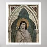 El St. Clare de AssisiDetail de Giotto Di Bondone Posters