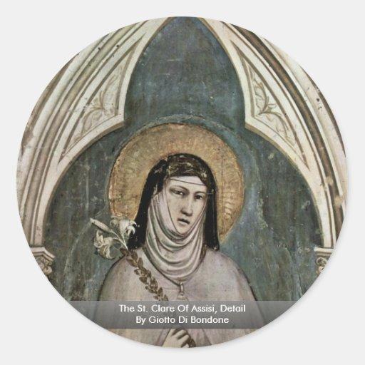 El St. Clare de AssisiDetail de Giotto Di Bondone Pegatinas