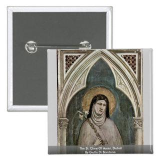 El St. Clare de AssisiDetail de Giotto Di Bondone Pin
