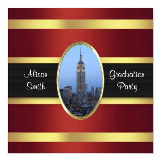 El St del imperio que construye la graduación del Invitación 13,3 Cm X 13,3cm