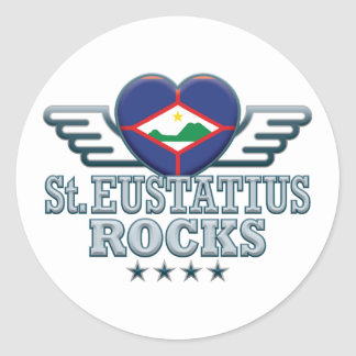 El St. Eustatius oscila v2 Pegatina Redonda