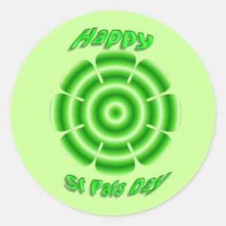 el st feliz acaricia a día pegatina redonda