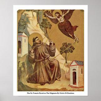 El St Francis recibe los estigmas Posters