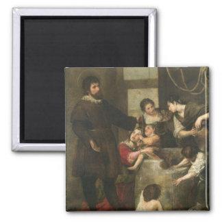El St. Isidoro ahorra a un niño que había caído en Imán Cuadrado