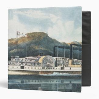 """El ` St. John del barco de vapor del río Hudson Carpeta 1 1/2"""""""